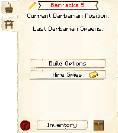Barracks GUI